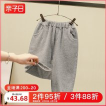 trousers Hyun yibeimei male 80cm 90cm 100cm 110cm 120cm 130cm Grey standby spring and autumn trousers leisure time No model Casual pants Leather belt middle-waisted other Don't open the crotch Other 100% 20C-KZ50050-1217PA other Winter of 2019 Chinese Mainland Zhejiang Province Hangzhou