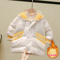 Down Jackets 80cm 90cm 100cm 110cm 120cm 130cm 60% White duck down male Hyun yibeimei Yellow Beige polyester Medium length No detachable cap Zipper shirt other other Other 100% Winter of 2019 12 months, 18 months, 2 years old, 3 years old, 4 years old, 5 years old, 6 years old and 7 years old