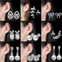 Ear Studs Silver ornaments RMB 1.00-9.99 Other / other brand new Japan and South Korea female goods in stock Fresh out of the oven other other 925 Silver