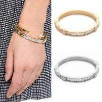 Bracelet Сплав / серебро / золото Золотое серебро новый Европа и Америка акции женщина Свежеиспеченный Инкрустированный искусственный камень / полудрагоценный камень другое
