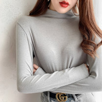 T-shirt White, gray, black, pink, khaki, apricot, blue, orange Average size Autumn 2020 Long sleeves easy Regular routine other 71% (inclusive) - 85% (inclusive) youth Solid color