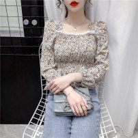 Lace / Chiffon Spring 2021 Apricot, pink, black Average size Long sleeves commute Socket singleton  Self cultivation have cash less than that is registered in the accounts square neck Decor routine 18-24 years old lan123 Korean version 31% (inclusive) - 50% (inclusive)