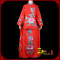 National costume / stage costume Summer of 2019 Red, plum, pink, other colors can be customized Soft crepe colorful big Peony jacket skirt Auspicious dragon Other / other Over 35 years old cotton 30% and below