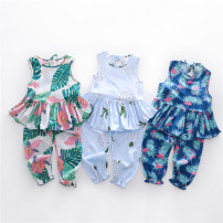 suit Other / other 2, 3, 4, 5, 6, 7, 8, 9, 10 years old Sleeveless + pants 100cm,110cm,120cm,130cm,140cm,150cm
