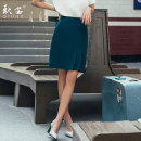 skirt Summer of 2019 S M L XL XXL XXXL Middle-skirt grace Natural waist skirt Solid color 25-29 years old 81% (inclusive) - 90% (inclusive) Qiu an polyester fiber fold Polyester fiber 90% polyurethane elastic fiber (spandex) 10% Pure e-commerce (online only)