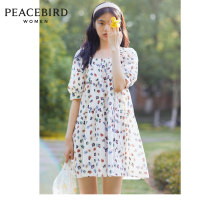 Dress Summer 2020 Color pattern (stock) color pattern (spare 1) color pattern (spare 2) S M L Short skirt singleton  elbow sleeve square neck Loose waist Socket other puff sleeve Others 25-29 years old Peacebird A7FAA2702 More than 95% cotton Cotton 100%