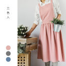 apron Naked pink without pocket 74cm * 84cm, oat without pocket 74cm * 84cm, charcoal grey without pocket 74cm * 84cm, naked pink with pocket 74cm * 84cm, oat with pocket 74cm * 84cm, charcoal grey with pocket 74cm * 84cm Sleeveless apron antifouling Korean style other Other topics M Other / other no