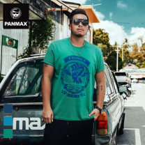 T-shirt Youth fashion Green Navy peacock blue routine XL 2XL 3XL 4XL 5XL 6XL Panmax / PAN Max Short sleeve Crew neck easy Other leisure summer PAGS-TS0244 Cotton 95% polyurethane elastic fiber (spandex) 5% Large size routine tide Summer 2017 other Fashion brand Pure e-commerce (online only)