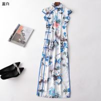 Dress Summer 2020 Blue and white S,M,L,XL,XXL Other / other 31% (inclusive) - 50% (inclusive)