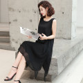 Dress Summer 2020 Black, red, white, yellow, apricot, pink S,M,L,XL,2XL,3XL Mid length dress singleton  Sleeveless commute Crew neck Loose waist Solid color Socket A-line skirt straps Type A MLG-OSY-6722 Chiffon