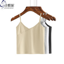Vest sling Summer 2021 S M L XL XXL singleton  have cash less than that is registered in the accounts Self cultivation camisole Solid color 25-29 years old 96% and above cotton Jiadieni Cotton 97% polyurethane elastic fiber (spandex) 3% Pure e-commerce (online only)