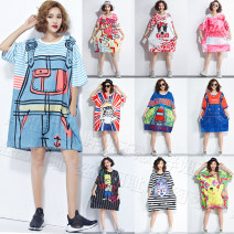 Women's large Summer 2020, spring 2020 Oversized 3XL [170-260 kg recommended], oversized l [90-130 kg recommended], oversized XL [125-150 kg recommended], this link all makes mesh fabric. Can find customer service, large size XXL [recommended 145-180 Jin] Dress singleton  street easy moderate Socket