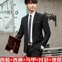 man 's suit other Blue suit + shirt H·Rmen routine 3XL 015-HAD306 Polyester 78.6% viscose (viscose) 21.4% Autumn of 2018