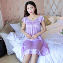 Nightdress Other / other Average size: 120-160 Jin, 160-200 Jin, 200-250 Jin, 250-300 Jin sexy camisole pajamas Middle-skirt summer Solid color youth Crew neck Polyester (polyester) lace More than 95% polyester fiber 105,326,328,816 200g and below