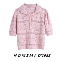 Wool knitwear Spring 2021 S,M,L Pink 1165 Short sleeve singleton  Socket cotton 31% (inclusive) - 50% (inclusive) have cash less than that is registered in the accounts Thin money Sweet other puff sleeve Solid color Socket