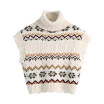 sweater Spring 2021 S,M,L Beige 3212 Short sleeve Socket singleton  have cash less than that is registered in the accounts cotton 31% (inclusive) - 50% (inclusive) High collar Regular Lotus leaf sleeve diamond Keep warm and warm