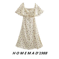 Dress Summer 2021 Broken flower 9964 XS,S,M,L Mid length dress singleton  Short sleeve street square neck middle-waisted Decor Socket other other Others 31% (inclusive) - 50% (inclusive) other Cellulose acetate Europe and America
