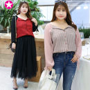 shirt Red pink XL XXL XXXL 4XL Spring of 2019 polyester fiber 96% and above Long sleeves Original design Regular Doll Collar lattice 25-29 years old Self cultivation Fat girl Polyester 100% Pure e-commerce (online only)