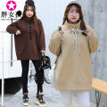 Sweater / sweater Winter of 2018 Beige coffee XL XXL XXXL 4XL Long sleeves Medium length Socket singleton  thickening stand collar easy commute routine Solid color 18-24 years old 51% (inclusive) - 70% (inclusive) Fat girl Korean version polyester fiber Intradermal bile duct