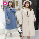 woolen coat Winter of 2018 XL XXL XXXL Blue Beige polyester 71% (inclusive) - 80% (inclusive) Medium length Long sleeves commute routine tailored collar Solid color Korean version Fat girl 25-29 years old Polyester fiber 80% polyethylene terephthalate (polyester) 20% Pure e-commerce (online only)