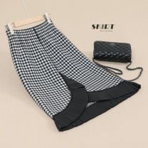 skirt Autumn 2020 Average size Black and white black BEIGE BLACK Middle-skirt commute High waist skirt lattice Type H 25-29 years old HYRFYH81181143 51% (inclusive) - 70% (inclusive) knitting Hirong / Han Yirong Viscose Thread asymmetric splicing lady Pure e-commerce (online only)