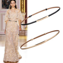 Belt / belt / chain Double skin leather female belt Versatile Single loop Middle aged youth a hook Glossy surface Patent leather 1cm alloy Bare body heavy line decoration wscjxpj Spring / summer 2018 no