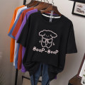 Women's large Summer 2020 1103 * white (cotton) 1103 * Pink (cotton) 1103 * Red (cotton) 1103 * yellow (cotton) 1103 * dark gray (cotton) 1103 * purple (cotton) 1103 * BLACK (cotton) 1103 * Blue (cotton) M L XL XXL 3XL 4XL 5XL T-shirt singleton  commute easy moderate Socket elbow sleeve Crew neck