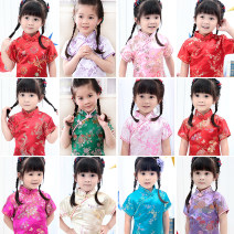 cheongsam Polyamide (nylon) 50% polyester 50% Jutang banner There are models in the real shooting summer Broken flowers Brocade Class B Q1 Chinese Mainland
