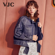 leather clothing VJC / VJC Autumn of 2019 S M Blue have cash less than that is registered in the accounts easy tailored collar zipper V8CK1861 other 25-29 years old Wash skin Other 100%