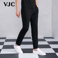 Casual pants VJC / VJC Youth fashion black routine trousers Other leisure Self cultivation Micro bomb Four seasons youth 2019 middle-waisted Spring of 2019 Same model in shopping mall (sold online and offline)