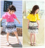 skirt 100cm , 110cm , 120cm , 130cm , 90cm black and white Zhou dada female Other 100% summer skirt Korean version lattice Cake skirt Class B