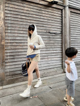 Sweater / sweater Spring 2021 Beige S,M,L Long sleeves routine Socket singleton  routine Hood easy street Solid color 96% and above cotton cotton Europe and America