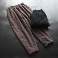 Cotton trousers / down trousers M, L yoko girl Black, brown other thickening middle-waisted trousers other 51% (inclusive) - 70% (inclusive) hemp 30-34 years old