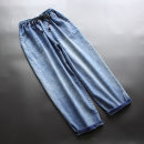 Jeans Spring 2021 blue M,L,XL Ninth pants Natural waist Haren pants routine 30-34 years old Embroidery Cotton denim light colour yoko girl 96% and above