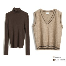 Fashion suit Spring 2021 Average [290g], average [200g] Apricot, milk tea (VEST), dark grey (VEST), burnt tea (bottom coat) 25-35 years old 5S51+4S90 31% (inclusive) - 50% (inclusive)