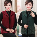 Middle aged and old women's wear Autumn of 2018 Color one, color two, color three XL,XXL,XXXL,4XL,5XL leisure time Vest easy singleton  40-49 years old Cardigan moderate cotton