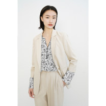suit Spring 2021 Shallow Khaki XS,S,M,L,XL Long sleeves Medium length Self cultivation Refutation A button commute Solid color 81% (inclusive) - 90% (inclusive) Xijia