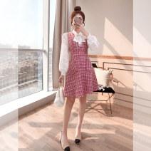 Fashion suit Autumn 2021 S,M,L,XL Pink 25-35 years old Justvivi style T00004028