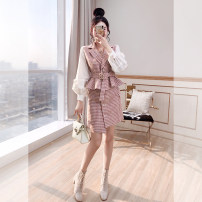 Fashion suit Spring 2021 S,M,L,XL Pink 25-35 years old Justvivi style T00007383