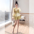 Fashion suit Spring 2021 S,M,L,XL Yellow, light blue 25-35 years old Justvivi style T00007436