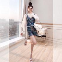 Fashion suit Spring 2021 S,M,L,XL Malachite blue 25-35 years old Justvivi style T00007424