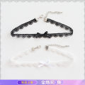 Necklace Lace RMB 20-24.99 Other / other Black lace, white lace brand new Original design female goods in stock no Fresh out of the oven 21cm (inclusive) - 50cm (inclusive) no Below 10 cm Not inlaid Plants and flowers