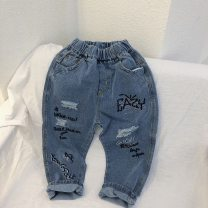 trousers Chaoma Feifei neutral 110cm,120cm,130cm,140cm,150cm,160cm Denim blue trousers Jeans 2 years old, 3 years old, 4 years old, 5 years old, 6 years old, 7 years old, 8 years old