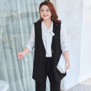 Women's large Summer 2021 Classic black stock, classic black 2XL,3XL,4XL,5XL,6XL,XL Vest singleton  commute Straight cylinder moderate Cardigan Solid color Ol style V-neck routine Polyester, others T2183014 MS she / mu Shan Shiyi 25-29 years old Button 51% (inclusive) - 70% (inclusive)