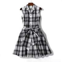 Dress Spring 2020 Black and white with blue stripes on a white background 36 = s = 1, 38 = M = 2