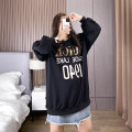 Women's large Spring 2021 black 1XL,2XL,3XL,4XL,5XL Sweater / sweater singleton  commute easy moderate Socket Long sleeves Korean version routine Polyester, cotton Three dimensional cutting routine MSZB4749 25-29 years old 81% (inclusive) - 90% (inclusive)