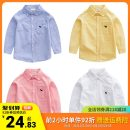 shirt Righteuro male 90cm,95cm,100cm,110cm,120cm,130cm spring and autumn Long sleeves Korean version Solid color Pure cotton (100% cotton content) Lapel and pointed collar Cotton 100%