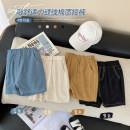 trousers Small die male 80CM,90CM,100CM,110CM,120CM,130CM Apricot, yellow, blue, black summer shorts leisure time No model Combat trousers Leather belt middle-waisted Cotton blended fabric Other 100% X2455