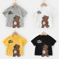T-shirt Righteuro 90CM,100CM,110CM,120CM,130CM male summer Short sleeve Crew neck leisure time No model nothing Cotton blended fabric Bear Cotton 100% 2, 3, 4, 5, 6, 7, 18 months