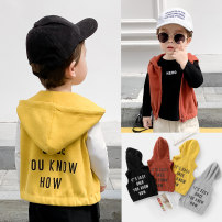 Vest male 90cm,100cm,110cm,120cm,130cm Righteuro spring and autumn routine leisure time Cotton blended fabric Solid color Other 100% 18 months, 2 years old, 3 years old, 4 years old, 5 years old, 6 years old, 7 years old, 8 years old